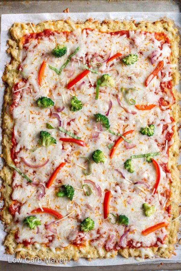 Keto Chicken Crust Pizza